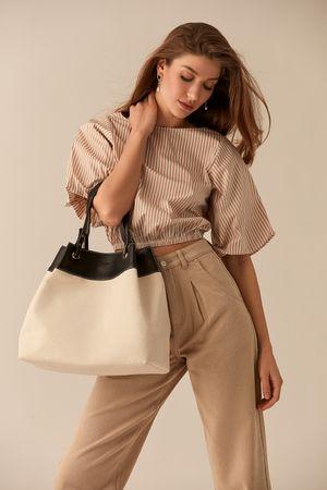 Контрастная сумка-мешок