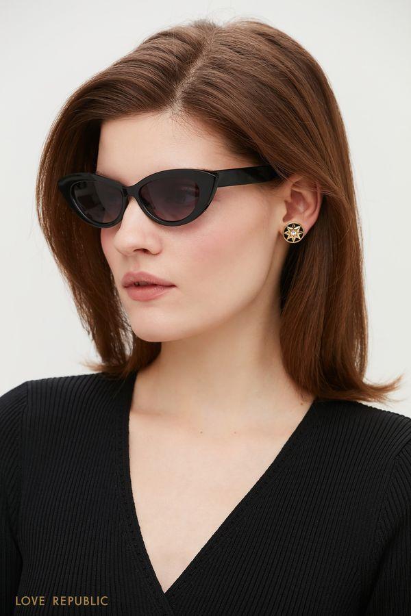 Солнцезащитные очки с чёрной оправой 044536007-50