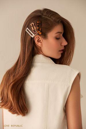 Набор черепаховых заколок для волос фото