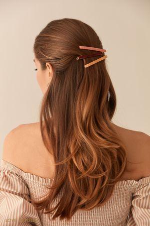 Набор из трех перламутровых зажимов для волос фото