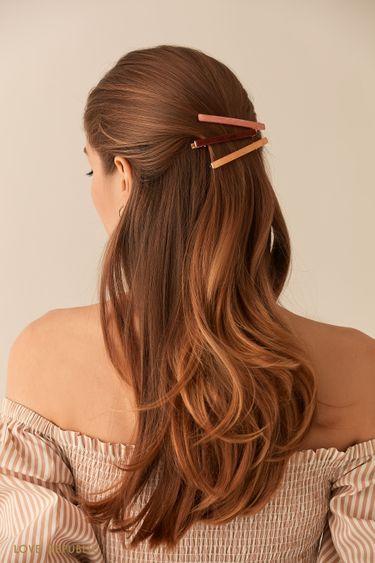 Набор из трех перламутровых зажимов для волос 044548038