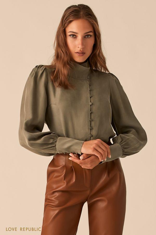 Блузка в викторианском стиле из купро 0450008305-61