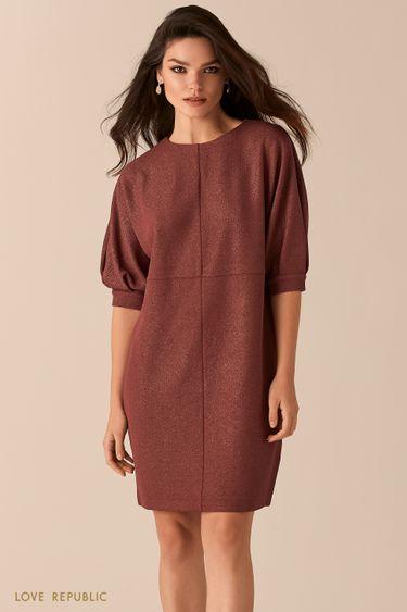 Платье свободного кроя с люрексом 0450115527