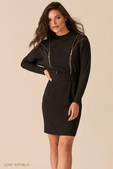 Платье с акцентными молниями на лифе 0450211524