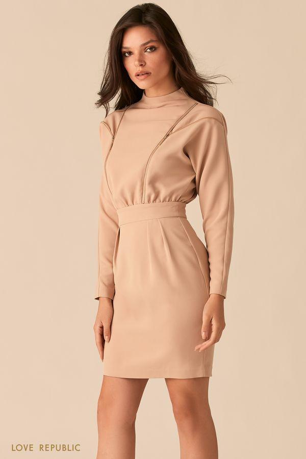 Платье с акцентными молниями на лифе 0450211524-50