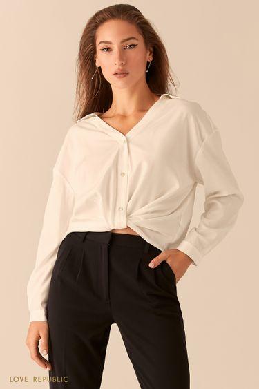 Рубашка oversize с узлом на талии 0451026320
