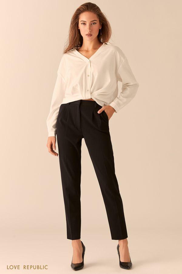 Черные базовые брюки в классическом стиле 0451251715-50