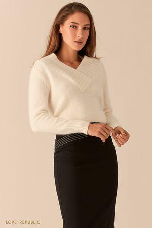 Ворсистый свитер с шерстью ангоры