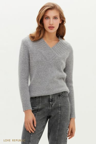 Ворсистый свитер с шерстью ангоры 0451335829