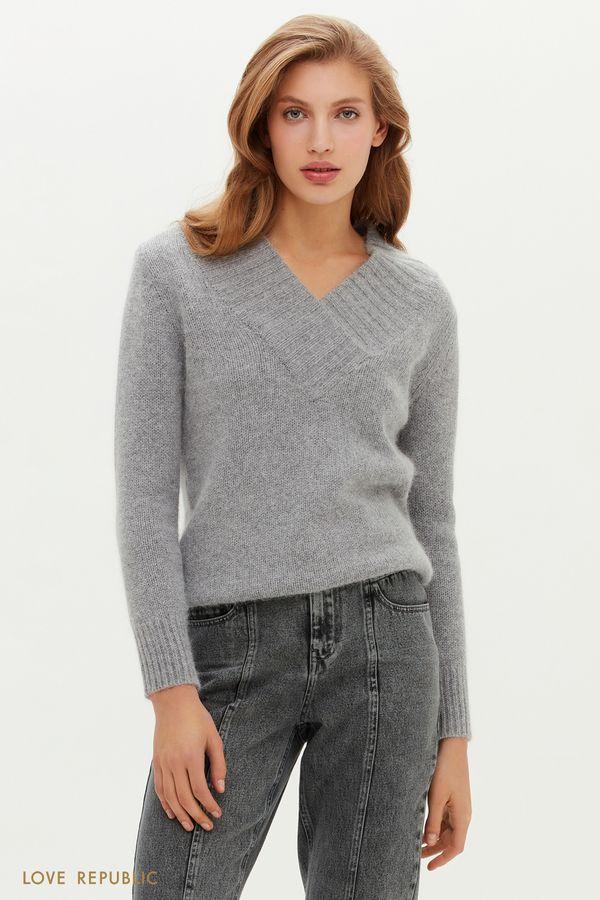Ворсистый свитер с шерстью ангоры 0451335829-60