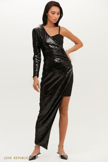 Эффектное платье-трансформер приталенного силуэта 0452236587