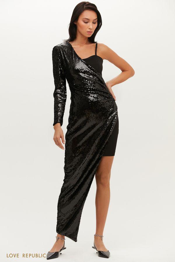 Эффектное платье-трансформер приталенного силуэта 0452236587-16