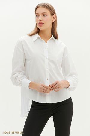 Рубашка с удлиненной плиссированной спинкой