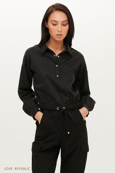 Укороченная рубашка с эластичной талией 1151047347
