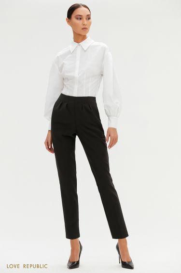 Зауженные брюки с высокой посадкой 1151250736