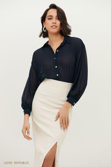 Блузка с плиссированными вставками 1152008309