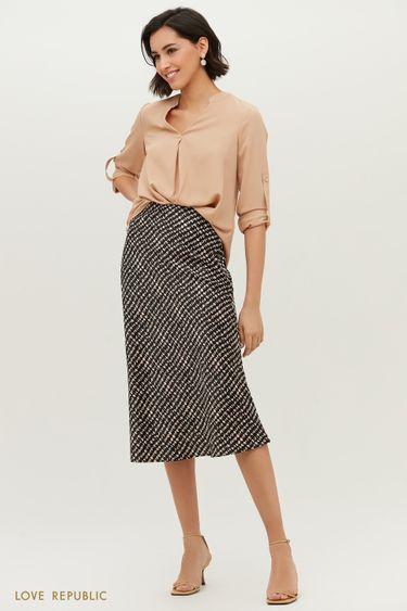 Трендовая юбка миди с абстрактным принтом 1152035216