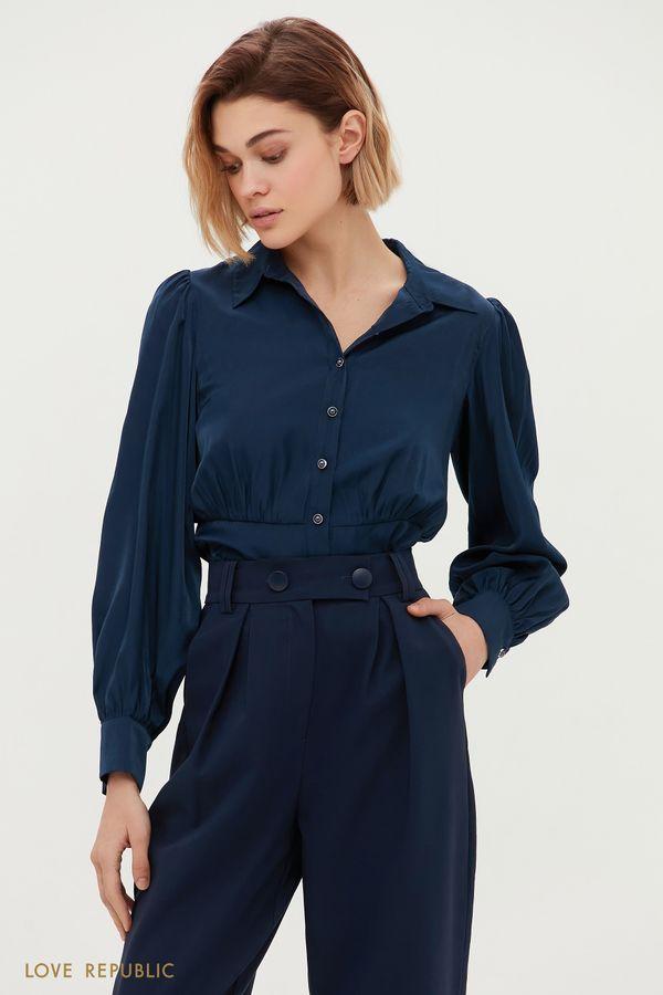 Блузка с акцентной кокеткой 1152019313-60