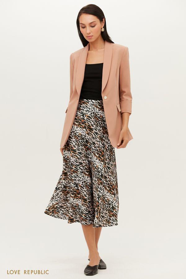 Трендовая юбка миди с абстрактным принтом 1152035216-65