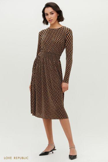 Платье-миди с принтом 1152127558