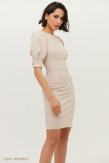 Платье с рукавами-фонариками 1152135572