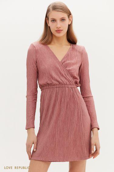 Женственное платье мини с запахом 1152143576