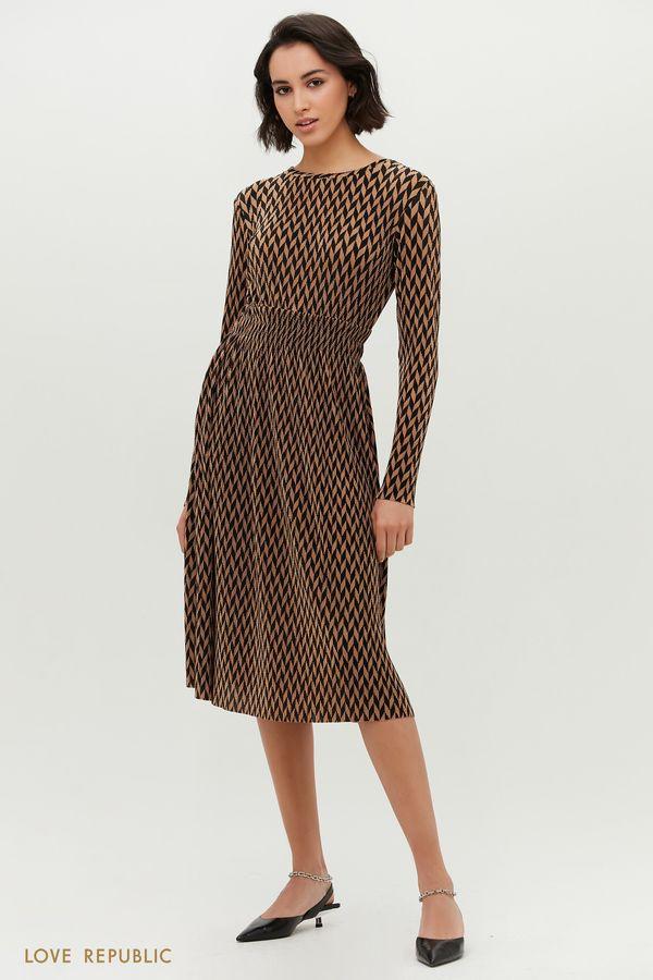 Платье-миди с принтом 1152127558-65