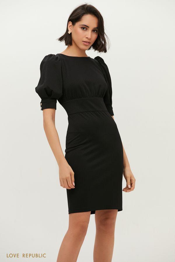 Платье с рукавами-фонариками 1152135572-61