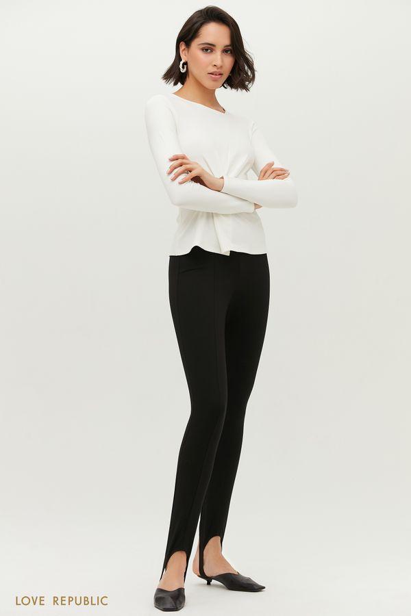 Черные брюки со штрипками 1152142750-50