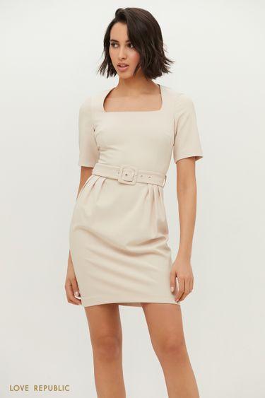 Платье-мини с поясом 1152239559