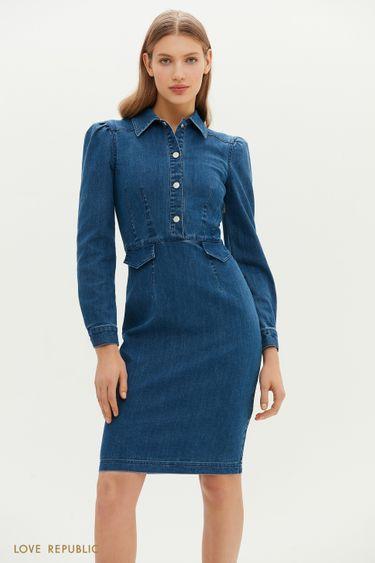 Платье джинсовое женское 1152429562