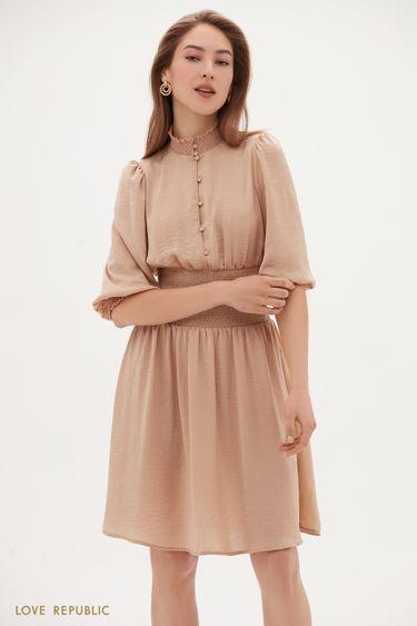 Струящееся платье с широкой резинкой 1153003503