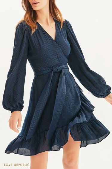 Платье на запах в горошек 1153033573
