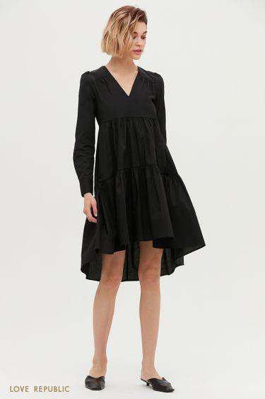 Короткое платье чёрного цвета 1153038540