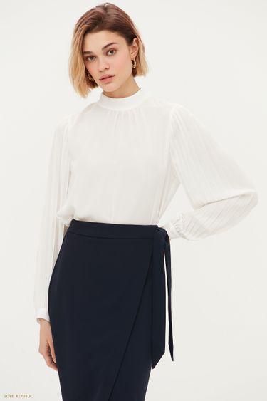 Блузка с плиссированными рукавами 1153040328