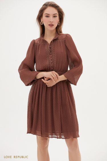 Платье из полупрозрачной ткани в горошек 1153051554