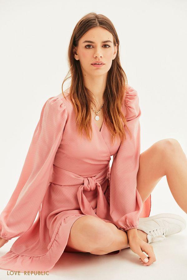 Жаккардовое платье на запах 1153033573-93
