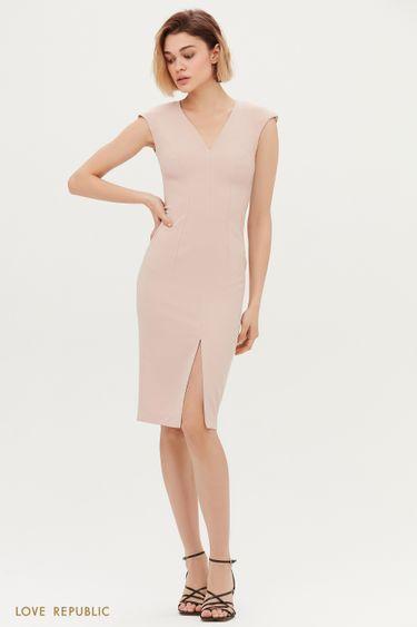 Платье-футляр с V-образным вырезом 1153207568