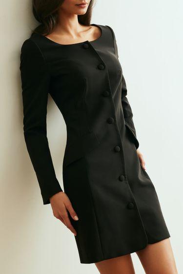 Платье мини на пуговицах 1153208520