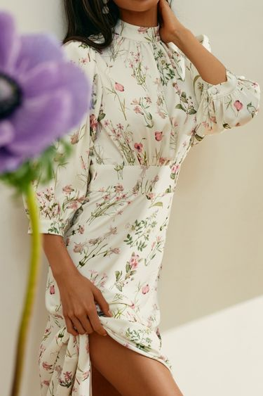 Платье с нежным цветочным принтом 1153240525