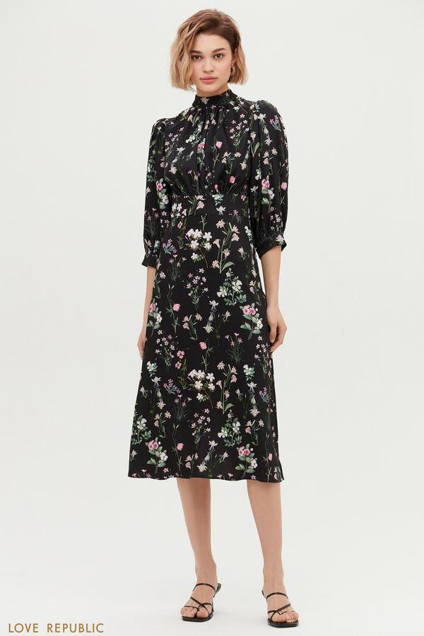Платье с нежным цветочным принтом 1153219525-54