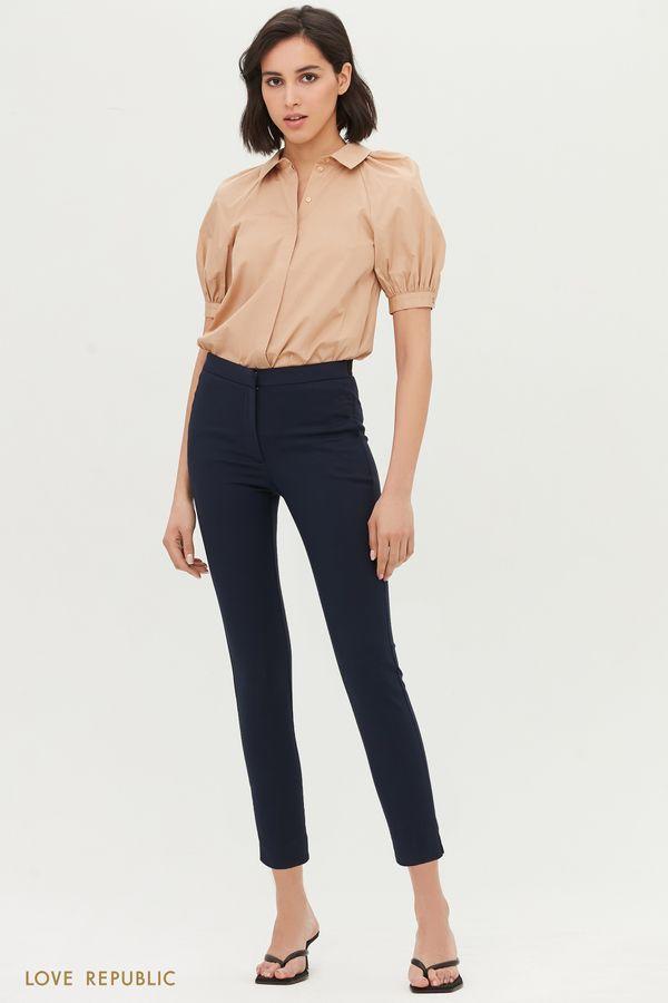 Базовые брюки прилегающего кроя 1153252746-50