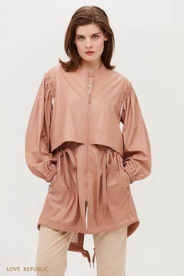 Трендовая куртка розового цвета 1153528109