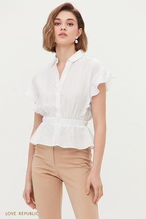 Блузка с воланами из жатого материала
