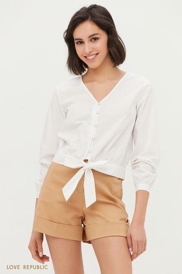 Блузка на завязках 1254036317