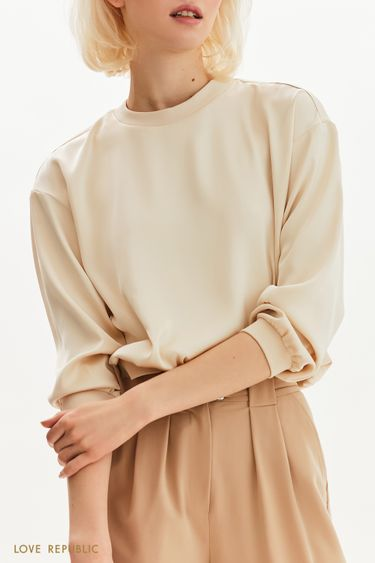 Атласная блузка в спортивном стиле 1254048367