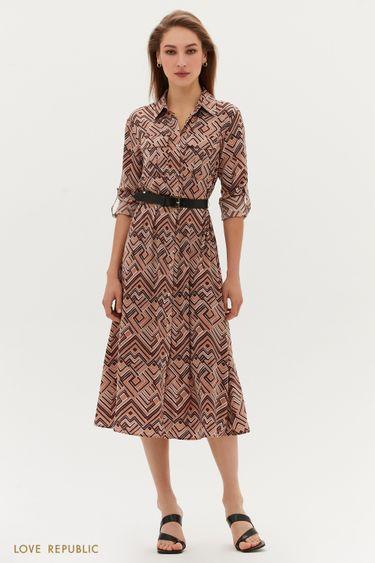 Платье-миди с ремнём 1254052570