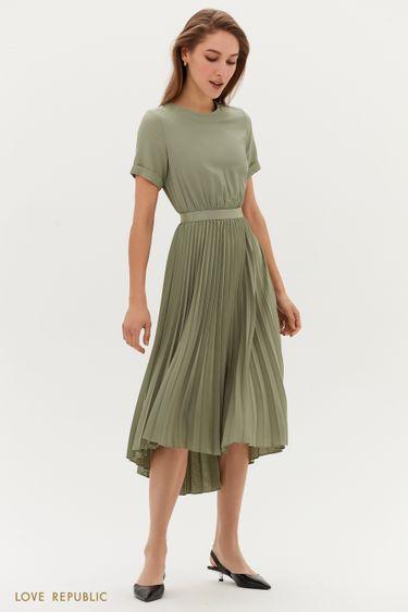 Платье-миди с плиссированной юбкой 1254059573