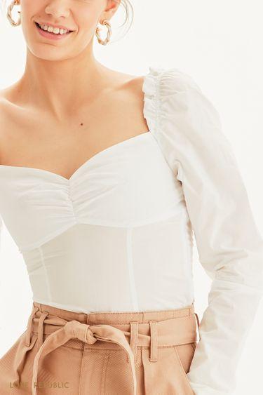 Женственная блузка с длинным рукавом 1254073378