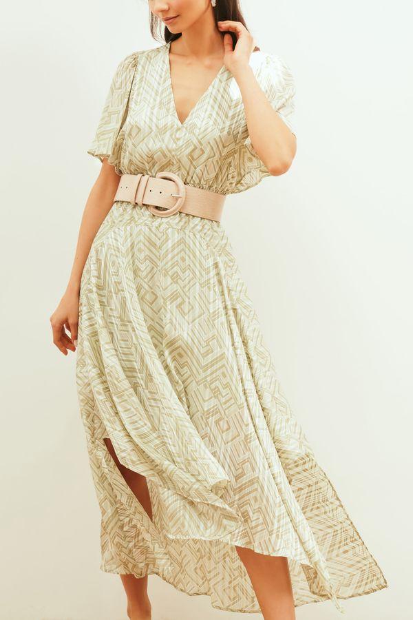 Платье с асимметричной юбкой 1254003504-15